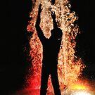 Worshipper at Night by Randy Richards