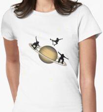 Skateboarding Saturn Womens Fitted T-Shirt