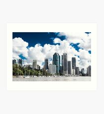 Brisbane from the River Art Print