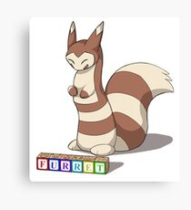 Pokemon Furret Canvas Print
