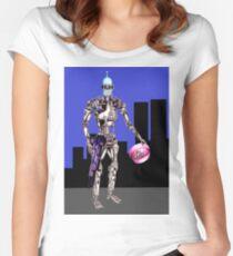 Terminator-Bender- Halloween Women's Fitted Scoop T-Shirt