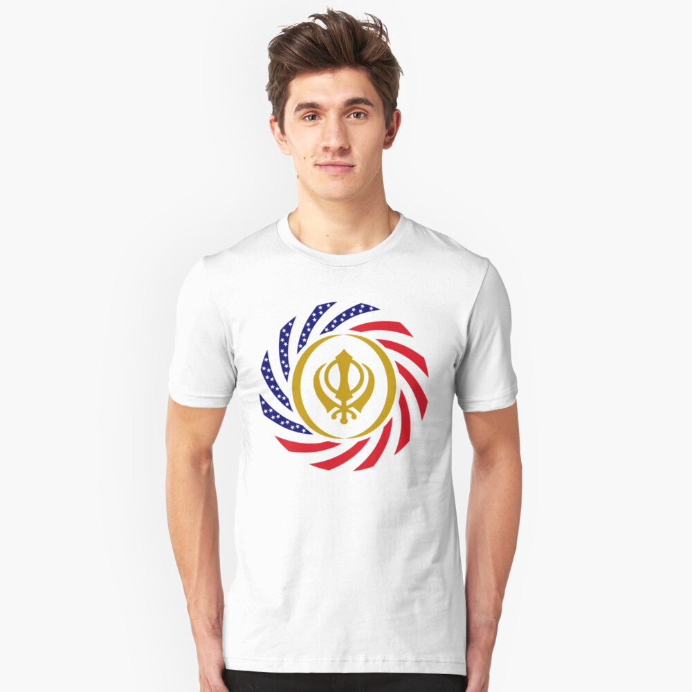 Sikh American Patriot Flag Series Unisex T-Shirt