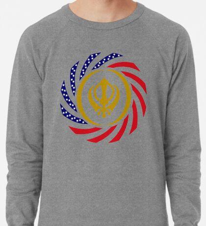Sikh American Patriot Flag Series Lightweight Sweatshirt