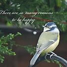 Reasons To Be Happy (Blue Tit)  by CreativeEm