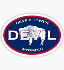 Devil's Tower Wyoming  Sticker