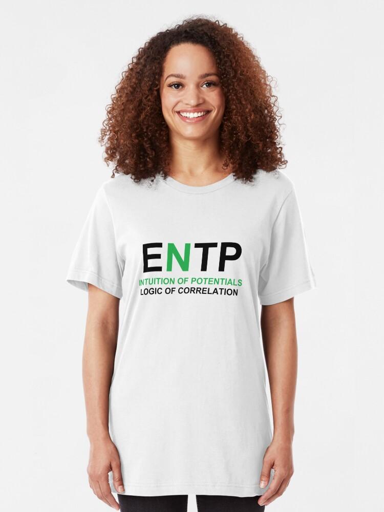 MBTI-ENTP-ALPHA-001 | Slim Fit T-Shirt
