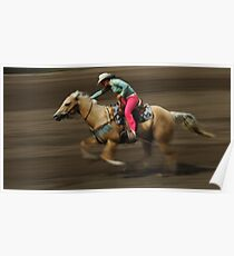 Rodeo Riding A Hurricane Poster