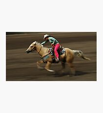 Rodeo Riding A Hurricane Photographic Print