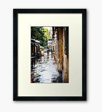 Rainy Streets in Rome Framed Print