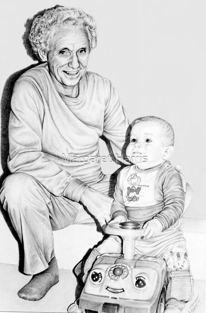 Grandfather and Grandson by Margaret Harris