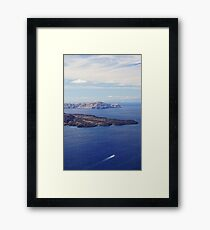 Scenic of the Cyclades Framed Print