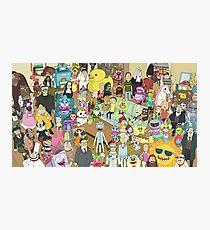 Zany Characters - Rick and Morty Photographic Print