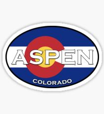 Aspen Colorado!  Colorado Flag Design! Sticker
