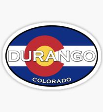 Durango Colorado!  Colorado state flag design! Sticker