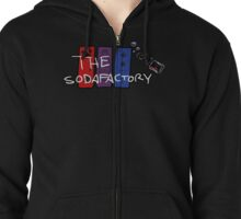 The Soda Factory Updated Logo by Noah Carver Zipped Hoodie