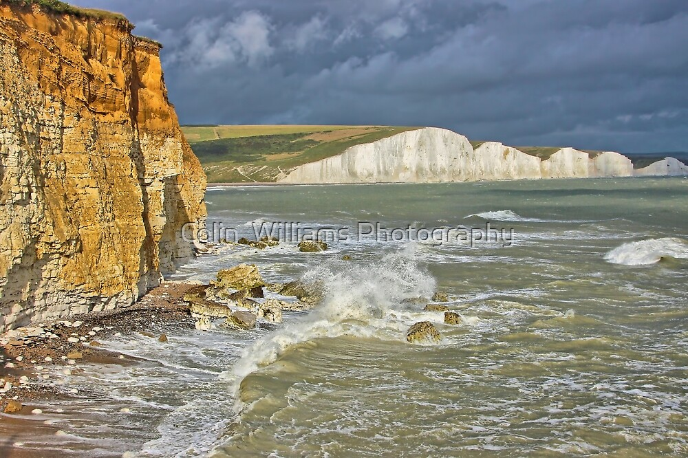 The Seven Sisters From Hope Gap - HDR by Colin  Williams Photography