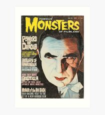 Famous MONSTERS of Filmland Art Print