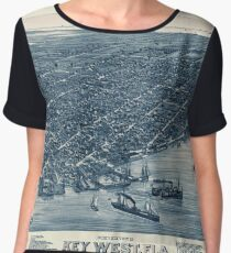 Map Of Key West 1884 Chiffon Top