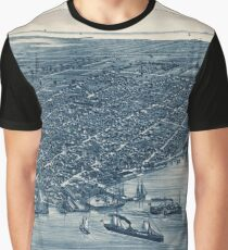 Map Of Key West 1884 Graphic T-Shirt