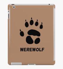 werewolf pawprint iPad Case/Skin