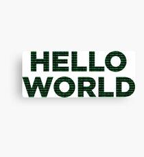 Hello World - Binary Canvas Print