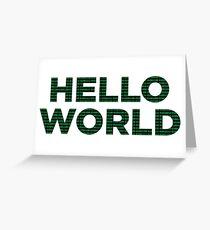 Hello World - Binary Greeting Card