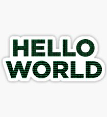 Hello World - Binary Sticker