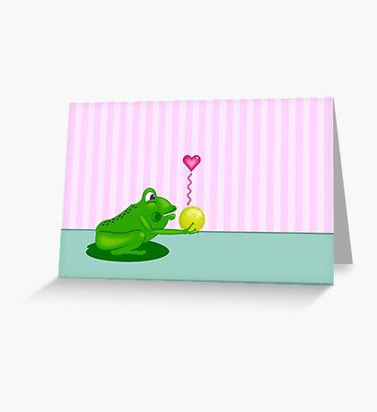 Frog King VRS2 Greeting Card