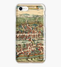 Map Of Zurich 1581 iPhone Case/Skin