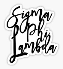 Sigma Phi Lambda LOVE Sticker
