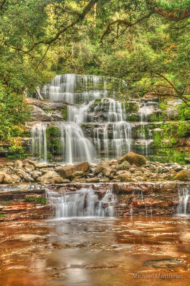 Liffey Falls portrait by Michael Matthews