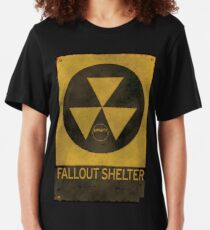 Fallout Shelter - Old & Busted! Slim Fit T-Shirt