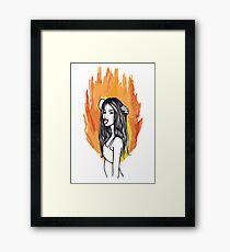 FIRE GIRLS Framed Print
