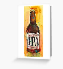 IPA Lagunitas Beer Art Greeting Card