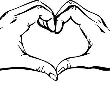 LOVE - Hands Heart by Gustavinlavin
