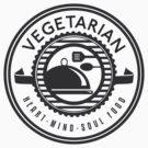Vegetarian Heart Mind and Soul Food by T-ShirtsGifts