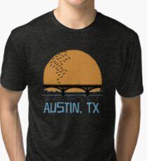 Austin Texas Bat Bridge  Tri-blend T-Shirt