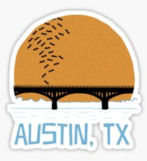 Austin Texas Bat Bridge  Sticker