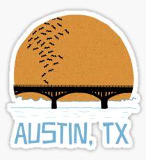 Austin Texas Bat Bridge  Sticker