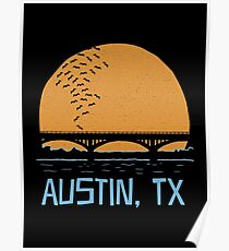 Austin Texas Bat Bridge  Poster