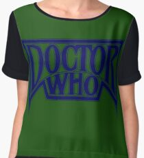 Doctor Who at the Pinnacle Chiffon Top