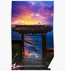 Sunset at Paradise Bay Poster