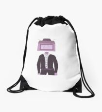 Object Head Drawstring Bag