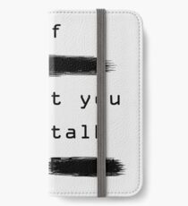 """The First Rule"" - Sans Background iPhone Wallet/Case/Skin"