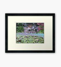 Zen Waterfall - Oil Paint Framed Print