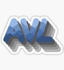 Asheville Mountainside Sticker