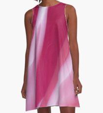 Raspberry Cream Swirl A-Line Dress