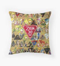 Zelda Series 30th Anniversary Throw Pillow