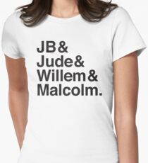 JB & Jude & Willem & Malcolm  Women's Fitted T-Shirt