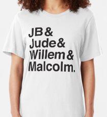 JB & Jude & Willem & Malcolm  Slim Fit T-Shirt